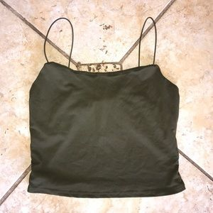 String strap cropped tank top